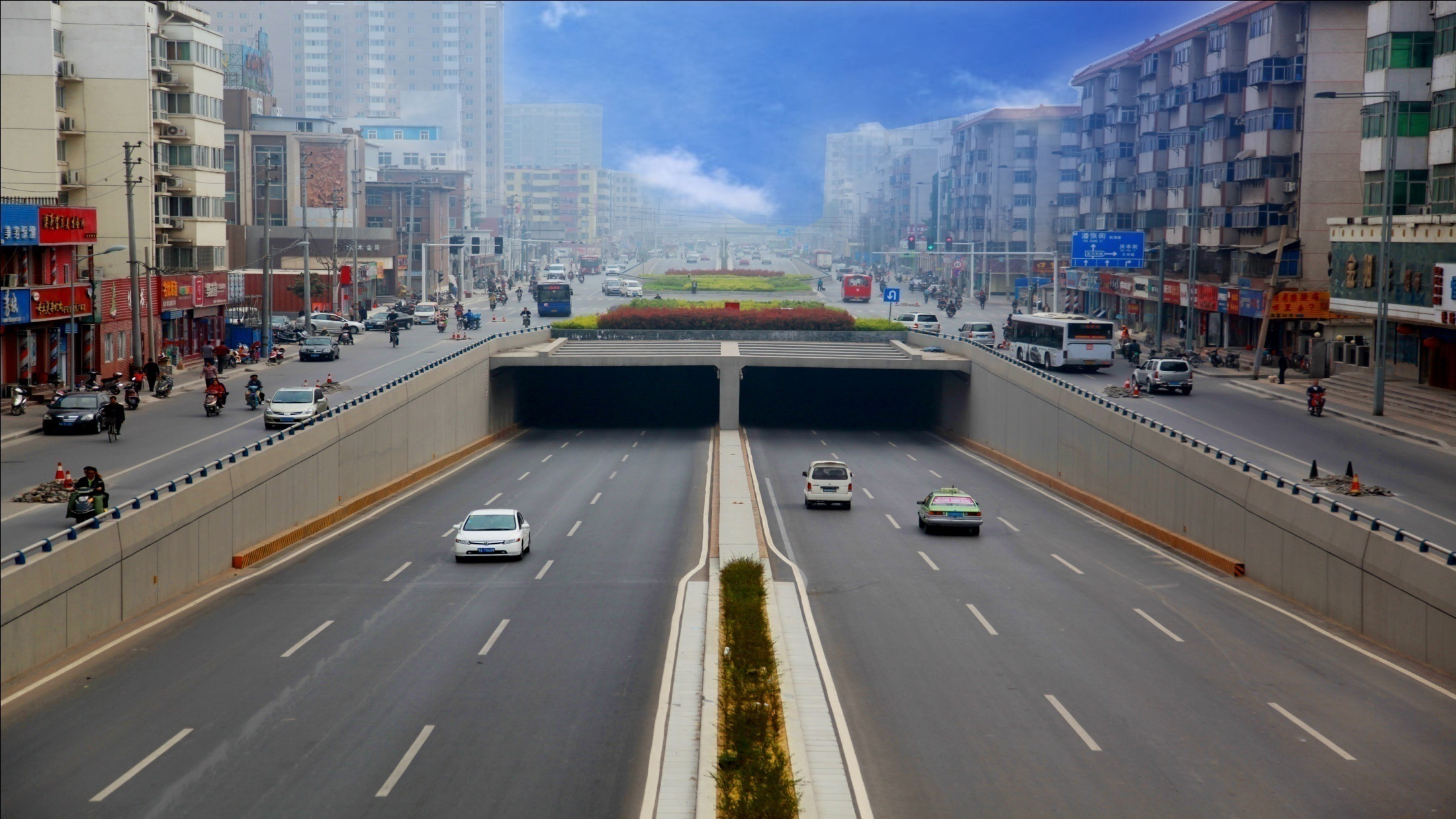 郑州市京广路—沙口路快速通道抓饭直播英超隧道三标